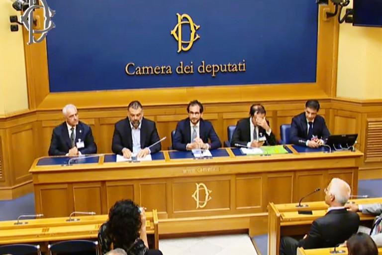 La conferenza stampa a Montecitorio