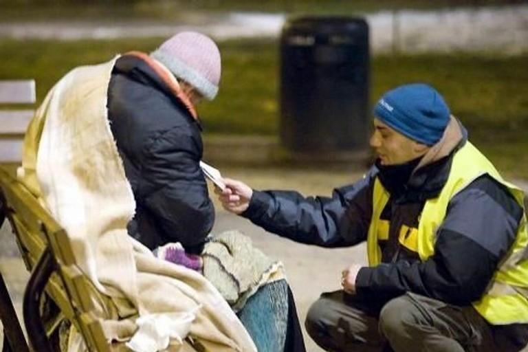 Coperte per i senzatetto