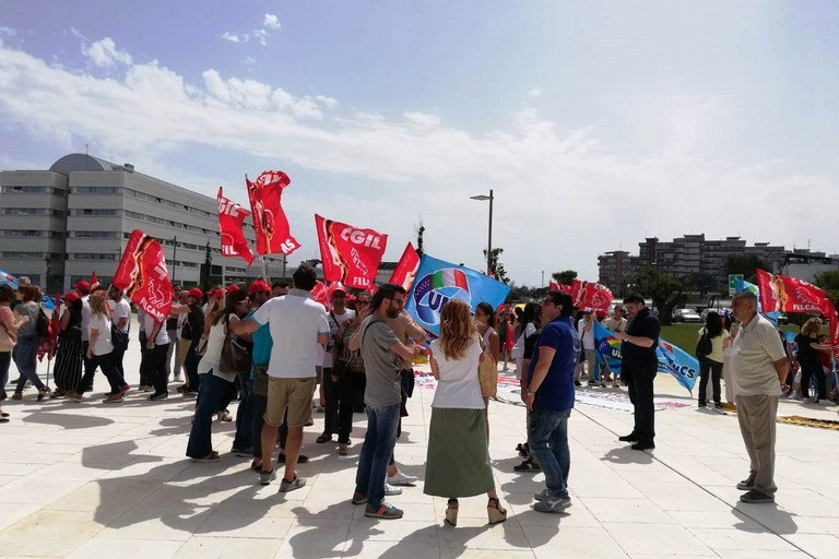 Lavoratori Mercatone Uno in protesta. <span>Foto Riccardo Resta</span>