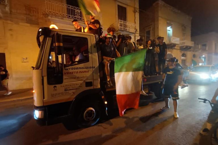 Festa a Terlizzi dopo Belgio-Italia 1-2