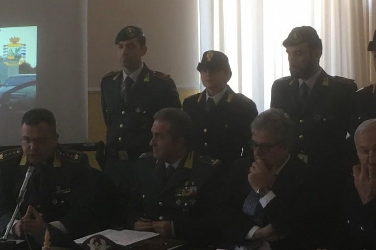 La conferenza stampa di Polizia di Stato e Guardia di Finanza