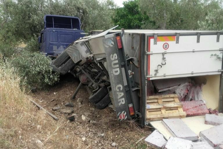 L'incidente stradale avvenuto sulla strada provinciale 107