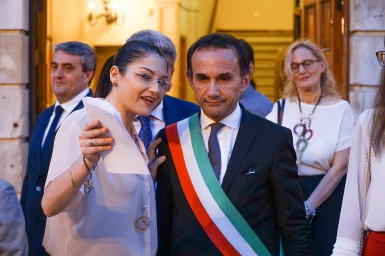 Franzelda Lecci con il sindaco Gemmato