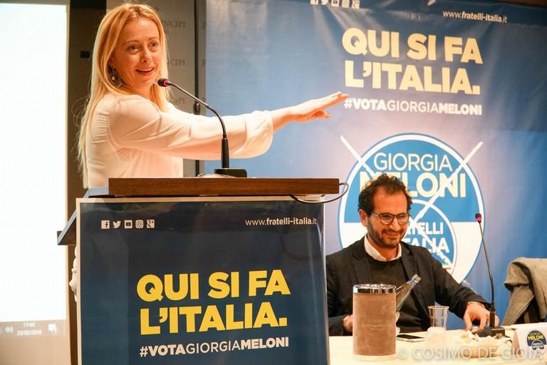 Giorgia Meloni con Marcello Gemmato