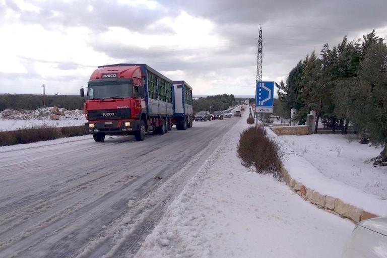 mezzi pesanti e neve
