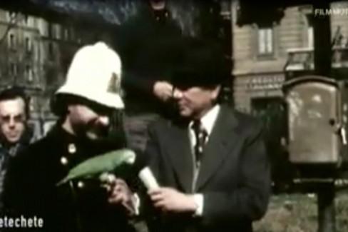 Il terlizzese Pietro Pappagallo con Enzo Tortora