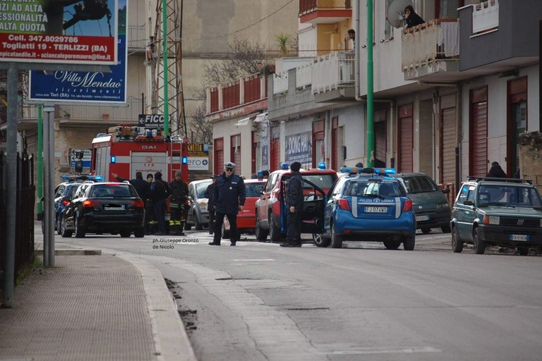 incendio in via Molfetta