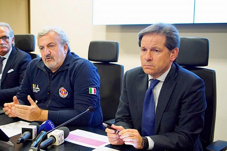 Vito Montanaro con Michele Emiliano